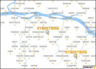 map of Kyauktaing