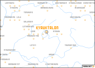 map of Kyauktalon