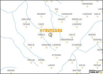 map of Kyaungdaw