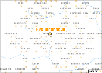 map of Kyaungpōngwo