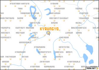map of Kyaungyo