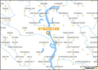 map of Kyaungywa