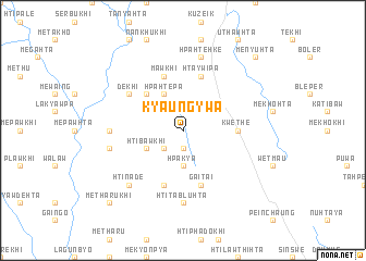 map of Kyaung-ywa