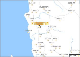 map of Kyaung-ywa