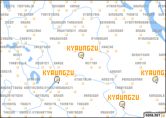 map of Kyaungzu