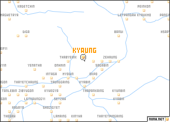 map of Kyaung