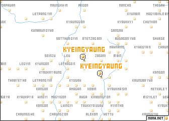 map of Kyeingyaung