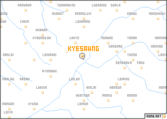 map of Kyesawng