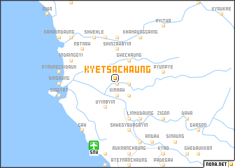 map of Kyetsāchaung