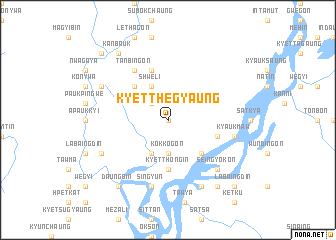 map of Kyetthegyaung