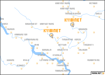 map of Kyibin-et