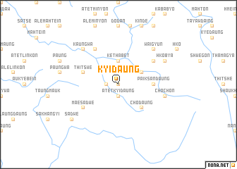 map of Kyidaung