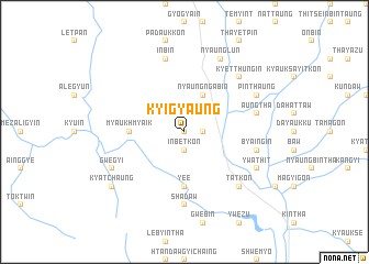 map of Kyigyaung