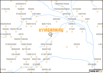 map of Kyin-ga-naing