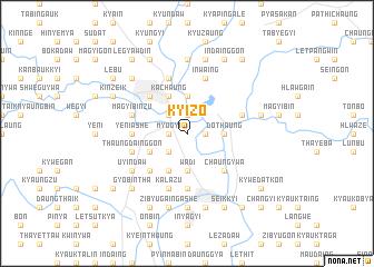 map of Kyizo