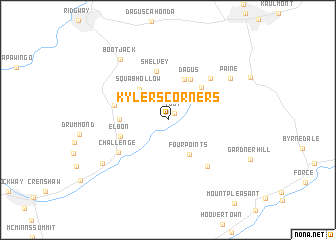 map of Kylers Corners