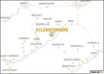 map of Kylers Corners