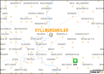 map of Kyllburgweiler