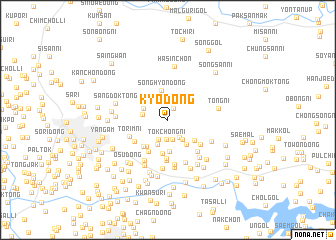 map of Kyo-dong