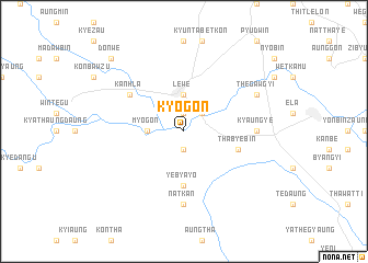 map of Kyogon