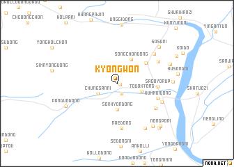 map of Kyŏngwŏn