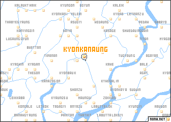 map of Kyonkanaung