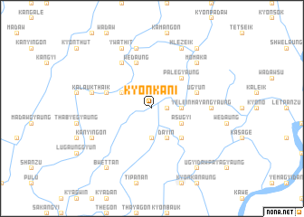 map of Kyonkani