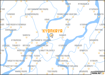 map of Kyonkaya