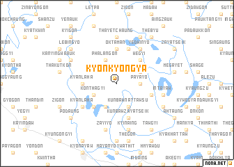 map of Kyonkyongya
