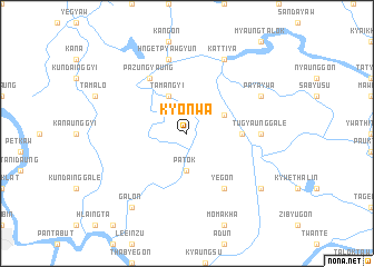 map of Kyonwa