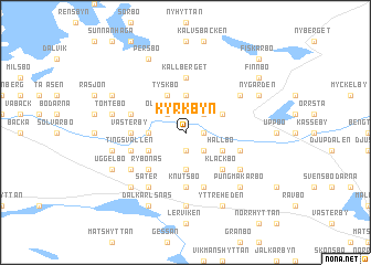 map of Kyrkbyn