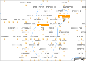 map of Kyudaw