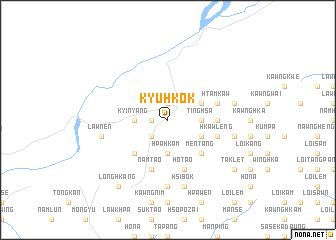 map of Kyu-hkök