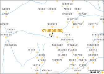 map of Kyundaing