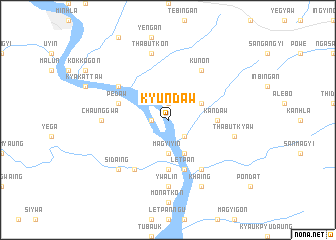 map of Kyundaw