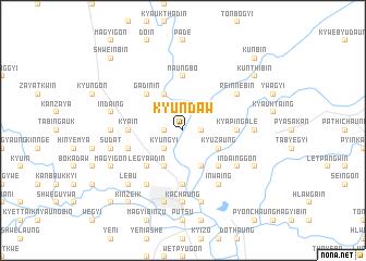 map of Kyundaw