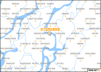 map of Kyunkama