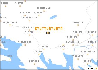map of Kyutyusyur\