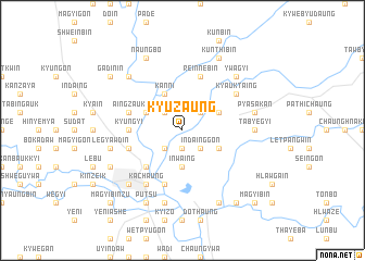 map of Kyuzaung