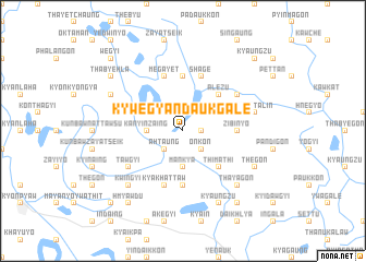 map of Kywegyandaukgale