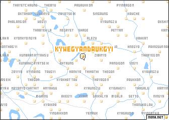 map of Kywegyandaukgyi