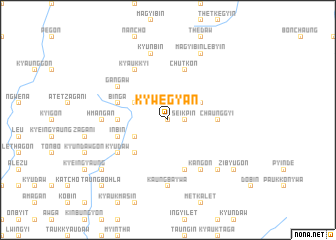 map of Kywegyan