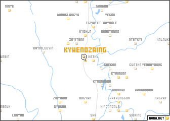 map of Kywenozaing