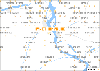 map of Kywethomyaung