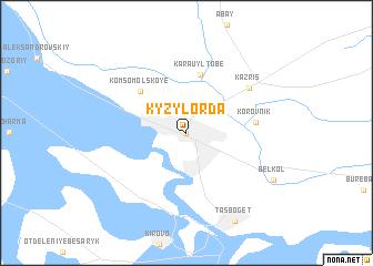 Kyzylorda Kazakhstan map nonanet