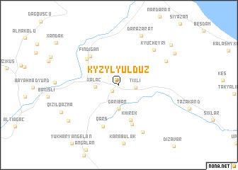 map of Kyzyl-Yulduz