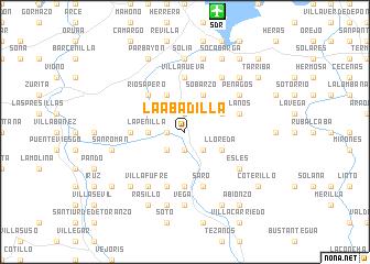 map of La Abadilla