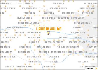 map of Laab im Walde