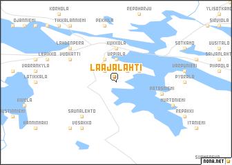 map of Laajalahti