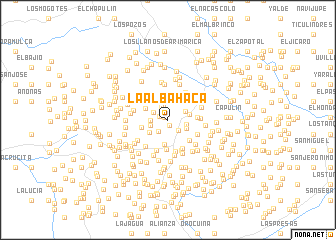 map of La Albahaca